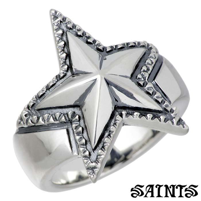 【セインツ】SAINTS リング 指輪 メンズ スター シルバー ジュエリー 星 17~21号 SSR-701