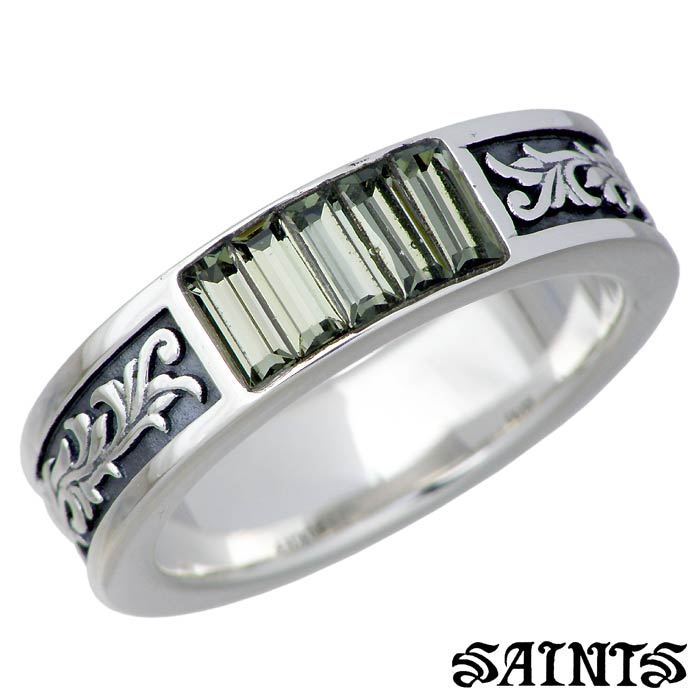 【セインツ】SAINTS リング 指輪 メンズ スワロフスキー&アラベスク シルバー ジュエリー 15~21号 SSR2-121BD