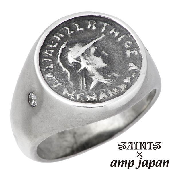 【セインツ×アンプジャパン】SAINTS X amp japan リング 指輪 メンズ 女神 アテナ 17号 19号 シルバーアクセサリー SSR6-01