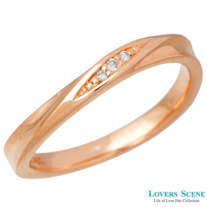 刻印可能 レディース リング 7~21号 ジュエリー 【ラバーズシーン】LOVERS ピンク SCENE 指輪 ダイヤモンド LSR-0131DPK シルバー