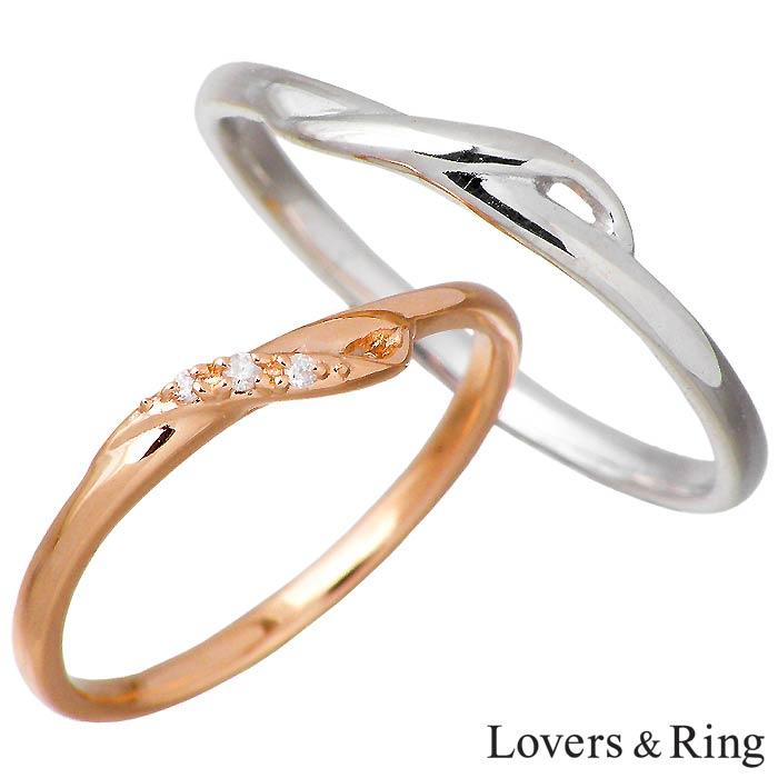 Lovers & 指輪 Ring【ラバーズリング】K10 ゴールド リング ペア リング 指輪 ダイヤモンド ダイヤモンド 5~15号 11~23号 LSR-0665-P, i-candy:31b00803 --- m2cweb.com