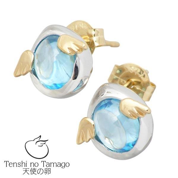天使の卵 Tenshi no Tamago ピアス レディース シルバー ジュエリー ストーン ロジウム加工 ブルー キュービック ペア 950 ブリタニアシルバー tenshi-316BLRM