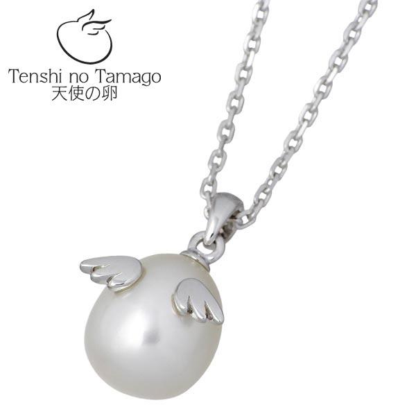 【天使の卵】 Tenshi no Tamago ネックレス レディース シルバー ジュエリー ロジウム加工 パール 950 ブリタニアシルバー tenshi-862PLRM