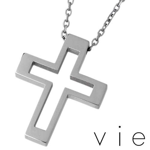 【ヴィー】vie ネックレス 金属アレルギー対応 ジュエリー レディース アレルギーフリー ステンレス クロス 十字架 vie-N1157