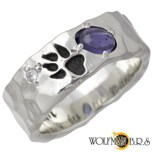 ウルフマンB.R.S WOLFMAN B.R.S リング 指輪 レディース アイオライト シルバー ジュエリー ウルフフット9~21号 925 スターリングシルバー R-NW-12
