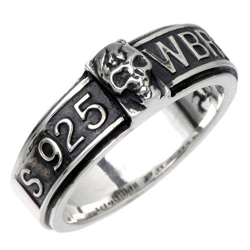 【ウルフマンB.R.S】WOLFMAN B.R.S リング 指輪 メンズ シルバー ジュエリー スカル 髑髏 ドクロ バンド 925 スターリングシルバー WO-R-032