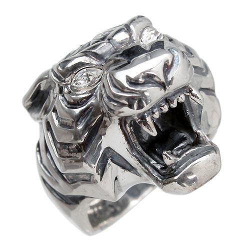 【ウルフマンB.R.S】WOLFMAN B.R.S リング 指輪 メンズ シルバー ジュエリー タイガーマン CZ キュービックジルコニア 925 スターリングシルバー WO-R-044ST
