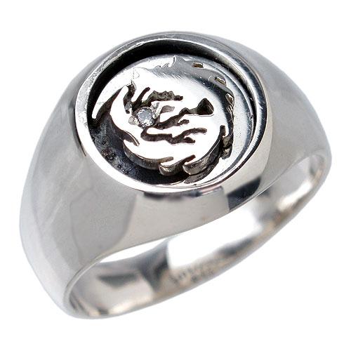 【ウルフマンB.R.S】WOLFMAN B.R.S リング 指輪 レディース シルバー ジュエリー ムーン ウルフ925 スターリングシルバー WO-R-048