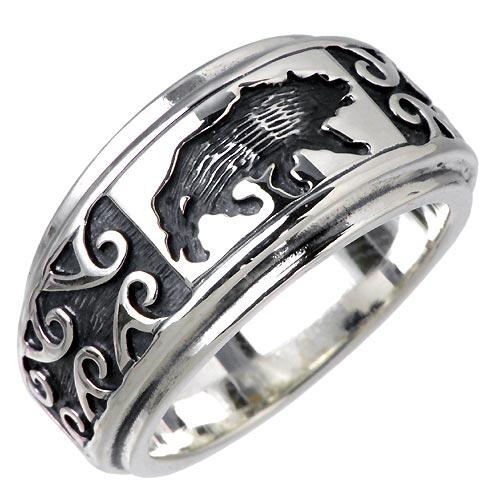 【ウルフマンB.R.S】WOLFMAN B.R.S リング 指輪 メンズ シルバー ジュエリー ウルフ 925 スターリングシルバー WO-RB4