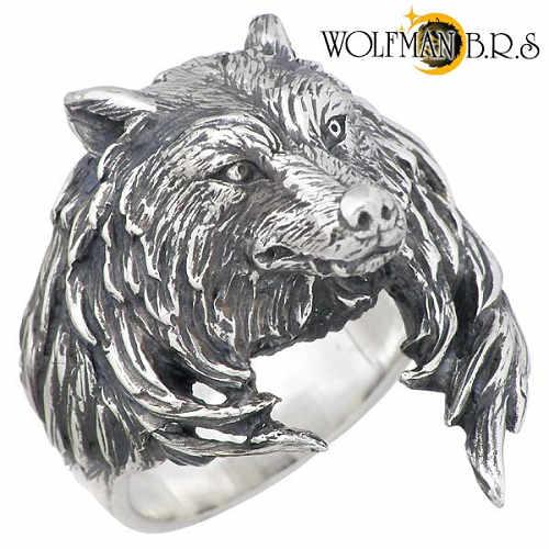 WOLFMAN B.R.S【ウルフマンB.R.S ウルフ】リング 指輪 17~21号 メンズ シルバー ウルフ 狼 狼 17~21号 925 スターリングシルバー WO-R-66, indigo:f8f47138 --- harrow-unison.org.uk