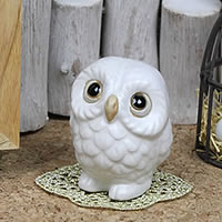 Feng Shui Owl White Health Luck In Profit Shin Raku And Figurines Pottery Or Kimono While