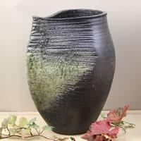 【P5倍以上】花瓶 おしゃれ 大きい 信楽焼 和風 古陶変形花瓶 和 癒し 壷 つぼ 花器 陶器 花入れ 一輪挿し しがらき フラワーベース インテリア 焼き物 ha-0035 お買い物マラソン
