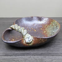 信楽焼 和風 おしゃれ  茶窯変手付き花入 癒しを感じさせる陶器の壷 つぼ 花瓶 花器 陶器 花入れ 一輪挿し しがらき 陶器 インテリア 焼き物 ha-0203
