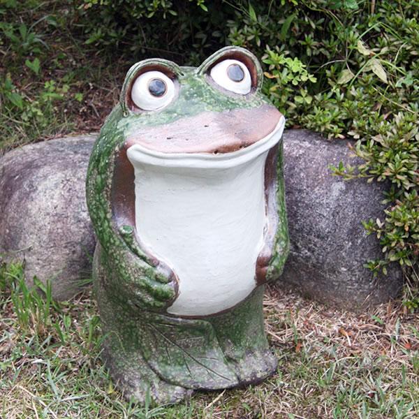 【ついに再販開始!】 信楽焼き 丸目立蛙(大)縁起物カエル お庭に玄関先に陶器蛙 やきもの [ka-0035] 陶器 しがらきやき 信楽焼き 蛙 やきもの 陶器かえる 信楽焼カエル [ka-0035], shopウィンクル:d781a2fd --- konecti.dominiotemporario.com