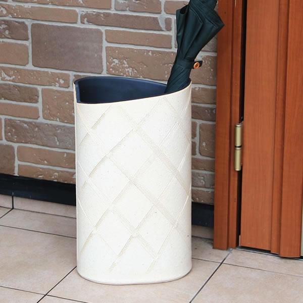信楽焼 和風 おしゃれ 傘立て 陶器 傘立て かさたて 傘入れ 壷 しがらき カサタテ 玄関 インテリア 玄関 花器 花瓶 小判型傘立て kt-0332