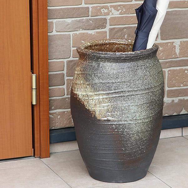傘立て 陶器傘立て 信楽焼かさたて 和風傘立て 傘入れ 壷 しがらき カサタテ やきもの傘立て かさたて陶器 玄関 インテリア 傘立て陶器 和風 傘立 kt-0338