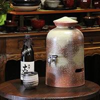 信楽焼 和風 おしゃれ 3升用 焼酎サーバー 焼酎が美味しくなると評判の陶器サーバー サーバー 陶器焼酎サーバー ギフト ss-0003