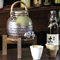 信楽焼 和風 おしゃれ  丸型ビードロ焼酎サーバー 陶器サーバー サーバー 焼酎サーバー ギフトにも最適 焼酎ビン 瓶 ss-0062