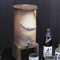 信楽焼 和風 おしゃれ  仲良しふくろう焼酎サーバー 陶器サーバー サーバー 焼酎サーバー ギフトにも最適 焼酎ビン 瓶 ss-0094