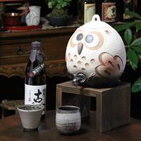 信楽焼 和風 おしゃれ 焼酎が美味しくなると評判の 焼酎サーバー ふくろう焼酎サーバー 陶器サーバー サーバー フクロウサーバー ss-0099
