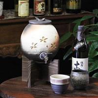 信楽焼 和風 おしゃれ 焼酎が格段に美味しくなる 焼酎サーバー 陶器サーバー  サーバー ギフトにも最適 焼酎ビン 瓶 ss-0104