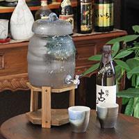 信楽焼 和風 おしゃれ  3.6リットル青ビードロ焼酎サーバー 陶器サーバー サーバー 焼酎サーバー ギフトにも最適 焼酎ビン 瓶 ss-0121