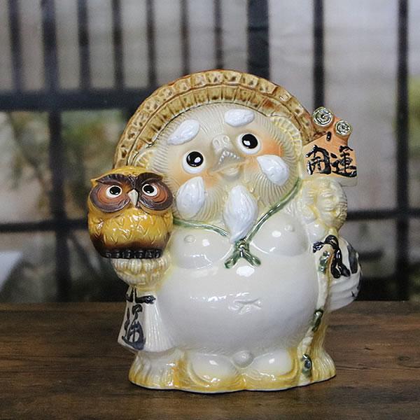 信楽焼 和風 おしゃれ たぬき 開運   仙人タヌキ 陶器タヌキたぬき 開運置物 しがらきやき 狸 タヌキ き物たぬき 開運 フクロウ 狸 ta-0269