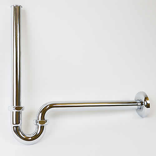 【 今だけ10%OFFクーポン 】信楽焼 和風 おしゃれ 洗面ボウル用のPトラップ配管金具32mm 手洗い鉢に最適な金具です tr-8006