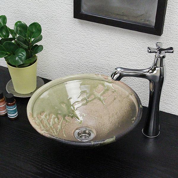 【P5倍以上】信楽焼 和風 おしゃれ 古信楽ソリ型手洗い鉢 洗面鉢 お洒落 洗面器 手洗器 手洗鉢 洗面ボール 洗面シンク 陶器 洗面台 手洗い鉢 洗面ボール 洗面陶器 tr-1088 お買い物マラソン