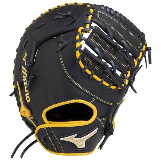 ミズノ ソフトボール用エレメントフュージョンUMiX捕手・一塁手兼用 ブラック×ナチュラル Mizuno 1AJCS18420 0947