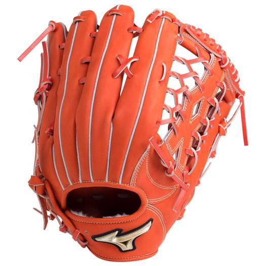 ミズノ 軟式用グローバルエリート Hselection01外野手用/サイズ16N スプレンディッドオレンジ Mizuno 1AJGR18207 52 野球 グローブ 軟式