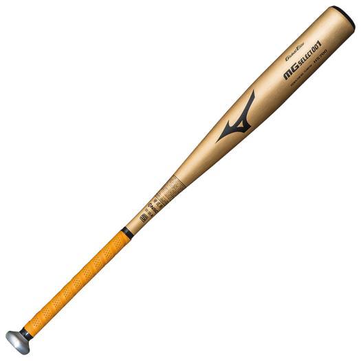 ミズノ 硬式用グローバルエリート MGセレクト001(金属製/83cm/平均900g以上) ゴールド Mizuno 1CJMH10983 50 野球 バット 硬式