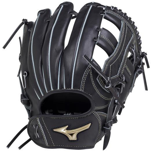 ミズノ 軟式用グローバルエリート UMiXU4(内野×外野)/サイズ10 ブラック Mizuno 1AJGR18450 09 野球 グローブ 軟式