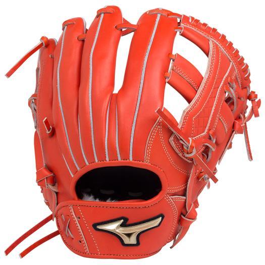 ミズノ 軟式用グローバルエリート UMiXU4(内野×外野)/サイズ10 スプレンディッドオレンジ Mizuno 1AJGR18450 52 野球 グローブ 軟式