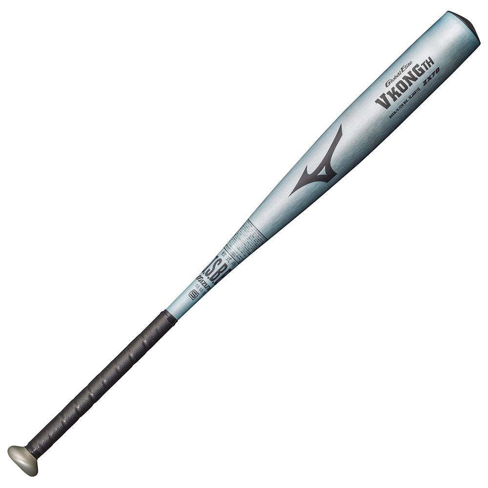 ミズノ 軟式用<グローバルエリート>VコングTH(金属製) BUシルバー Mizuno 1CJMR11684 28 野球 バット 軟式