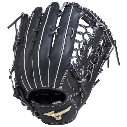 ミズノ ソフトボール用グローバルエリート Hselection01外野手用/サイズ16N ブラック Mizuno 1AJGS18207 09