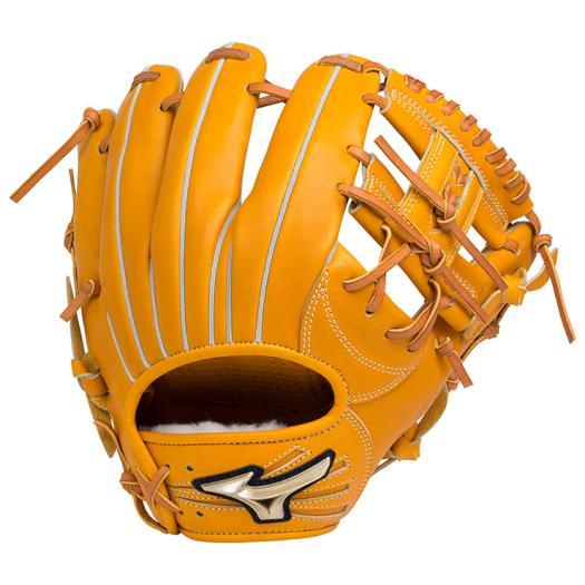 ミズノ 硬式用グローバルエリート Hselection02内野手用/サイズ8 オレンジ Mizuno 1AJGH18303 54 野球 グローブ 硬式