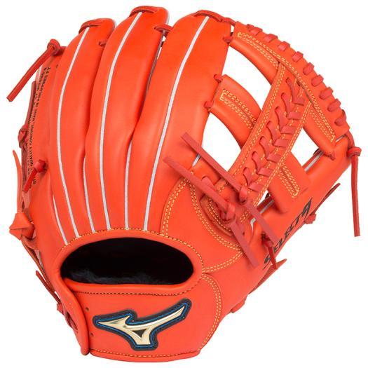 ミズノ 軟式用セレクトナイン内野手向け スプレンディッドオレンジ Mizuno 1AJGR16603 52 野球 グローブ 軟式