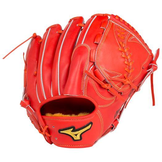 ミズノ 硬式用ミズノプロ スピードドライブテクノロジー投手用 スプレンディッドオレンジ Mizuno 1AJGH14201 52 野球 グローブ 硬式