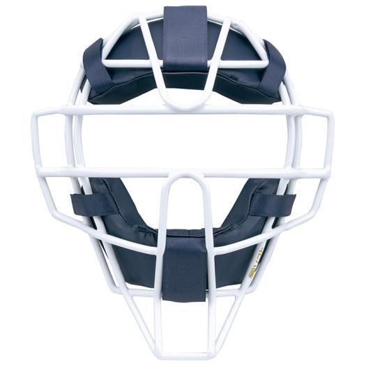ミズノ ミズノプロ ソフトボール用マスク ネイビー×ホワイト Mizuno 1DJQS100 14