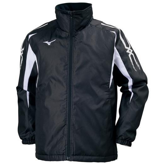 ミズノ 中綿ウォーマーシャツ ブラック×ホワイト Mizuno 32JE7553 09