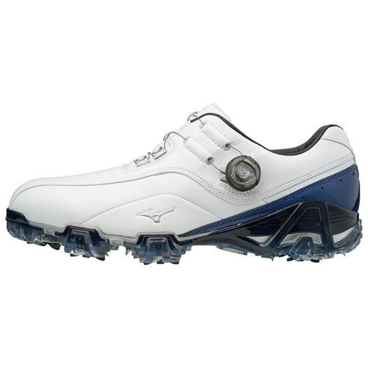 ミズノ ジェネム008ボア EEE(ゴルフ) メンズ ホワイト×ブルー Mizuno 51GM1800 22