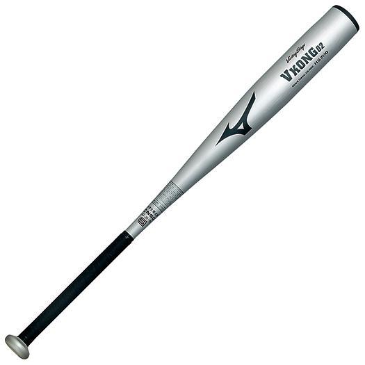 ミズノ 中学硬式用<ビクトリーステージ>Vコング02(金属製/84cm/平均830g) シルバー Mizuno 2TH26940 03N 野球 バット 硬式