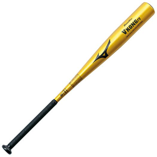ミズノ 中学硬式用グローバルエリート VコングF3(金属製/82cm/平均780g) ゴールド Mizuno 2TH27620 50 野球 バット 硬式
