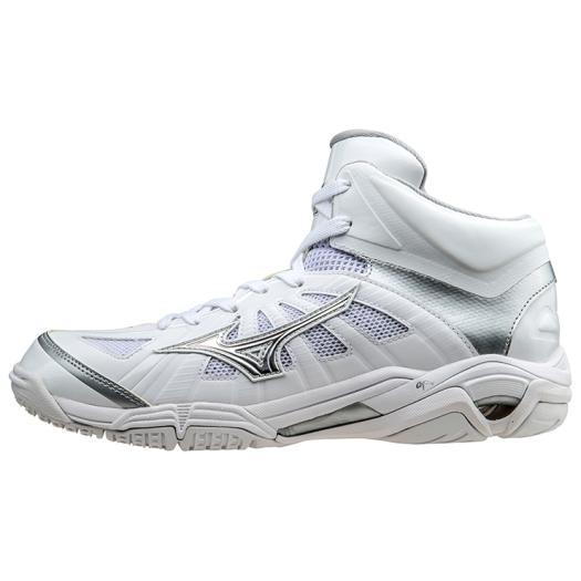 ミズノ ウエーブリアルBB7(バスケットボール) ホワイト×シルバー Mizuno W1GA1600 03 バスケットボール シューズ