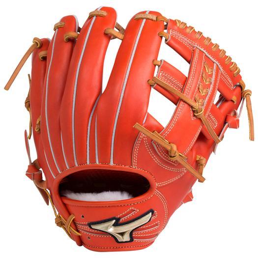 ミズノ 硬式用グローバルエリート Hselection02内野手用/サイズ9 スプレンディッドオレンジ Mizuno 1AJGH18313 52 野球 グローブ 硬式
