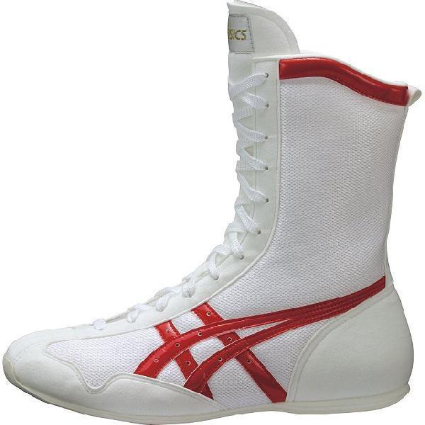 アシックス ボクシングMS ホワイト×レッド asics TBX704 0123