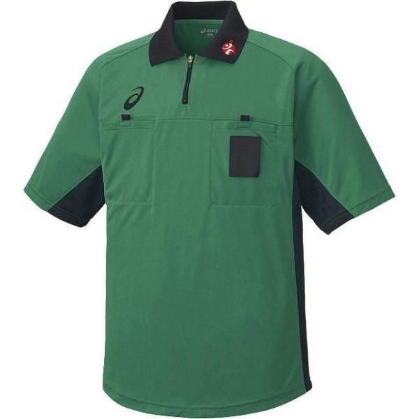 送料無料 高級品 アシックス レフリーシャツ グラスグリーン XH6003 新品 84 asics
