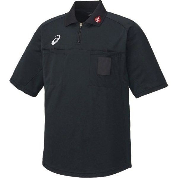 送料無料 アシックス いよいよ人気ブランド レフリーシャツ ブラック 人気商品 XH6003 90 asics