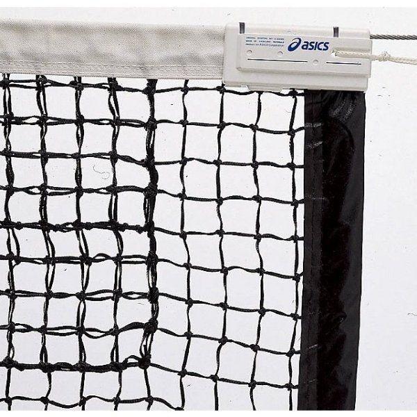アシックス 国際式全天候硬式テニスネット ブラック asics 118000 90